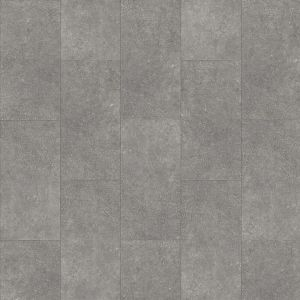 Stone Effect Rigid Click Lvt In Grey Tile Design That Has Underlay Installed Cantera 46930Lr
