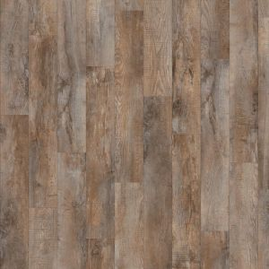 Dark Distressed Wood Effect Click Vinyl Flooring Country Oak 24958 For Hallways