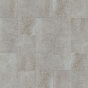 Glue Down Luxury Vinyl Floor Tiles In Light Grey With Micro Bevel And Smooth Finish