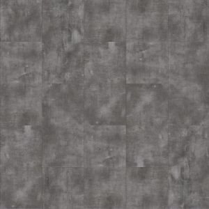 Metallic Silver Click Vinyl Flooring Tile With Etched Finish Steel Rock 46940