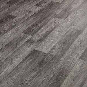 Medium Grey Wood Effect Vinyl Flooring Sheet Nimes 594 With Thick Backing