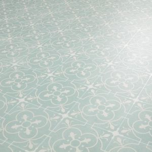 Georgian Tile Effect Bathroom Vinyl Flooring Sheet Nostalgia 97 Grey