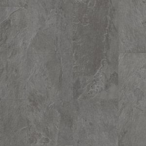 Click Lock Lvt Vinyl Flooring In Grey Slate Amcl40034 Pattern With 4V Bevelled Edges And Textured Rivens
