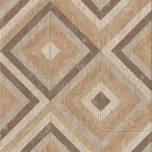 brown and grey pyramid design wood effect sheet vinyl flooring cairo 06