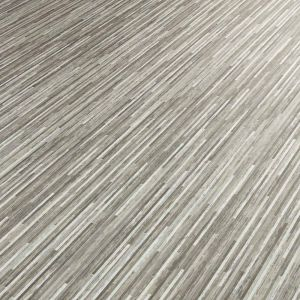 Skinny Mocha Vinyl Flooring Sheet Lino With Thin Stripes And Foam Backing