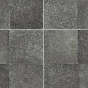 grey square tile effect sheet vinyl flooring lino glantane