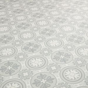 Light Grey Moroccan Style Vinyl Flooring Sheet With Textured Finish Tangier 06