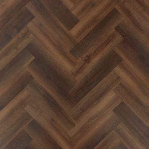 Universal Rigid Click Arabica Driftwood Herringbone Vinyl Flooring
