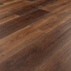 dark brown rustic wood effect click lvt flooring planks for bedroom, kitchen and bathroom floors arabica driftwood