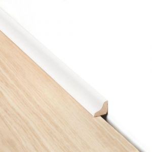 White Scotia Laminate Flooring Beading For Edges Of Living Rooms, Dining Rooms And Hallways