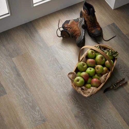Oak effect rigid luxury vinyl flooring for residential use - perfect for renovations.